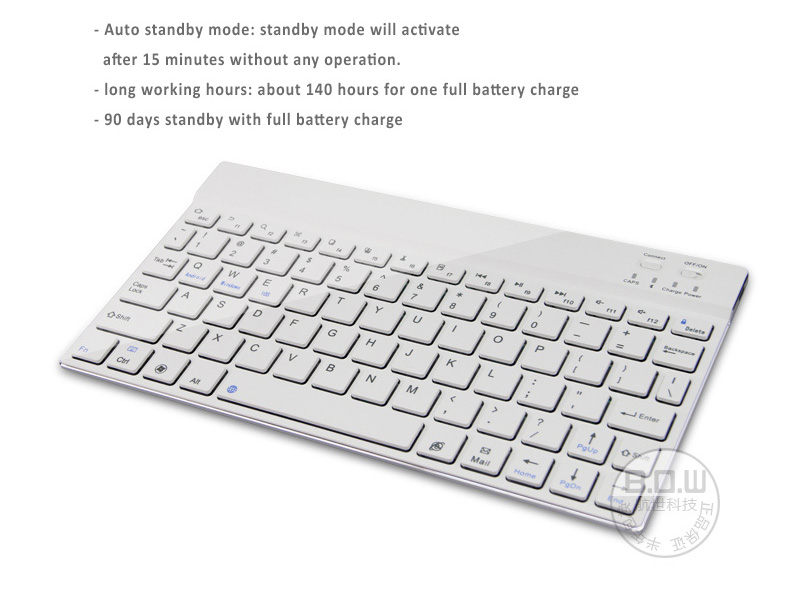 "Smart Cover Case Bundled with Detachable Bluetooth Keyboard (Ultra Thin 4mm),  Fits to 9-10.6"" Tablets,  MS Surface RT/Pro 1. 2, Samsung Galaxy 10.1"" Tab...etc"