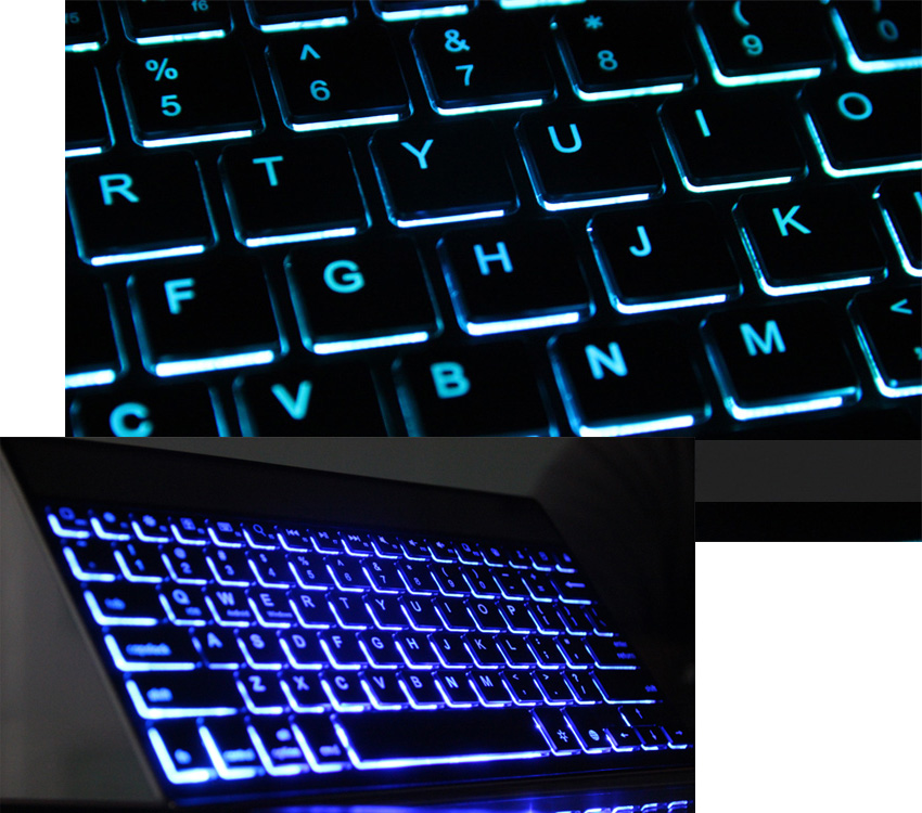 BOW Ultrathin Universal Bluetooth 3.0 Keyboard with Backlit 7 Color Backlight Choices Design for Apple iOS, Windows OS and Android 4.0 or above