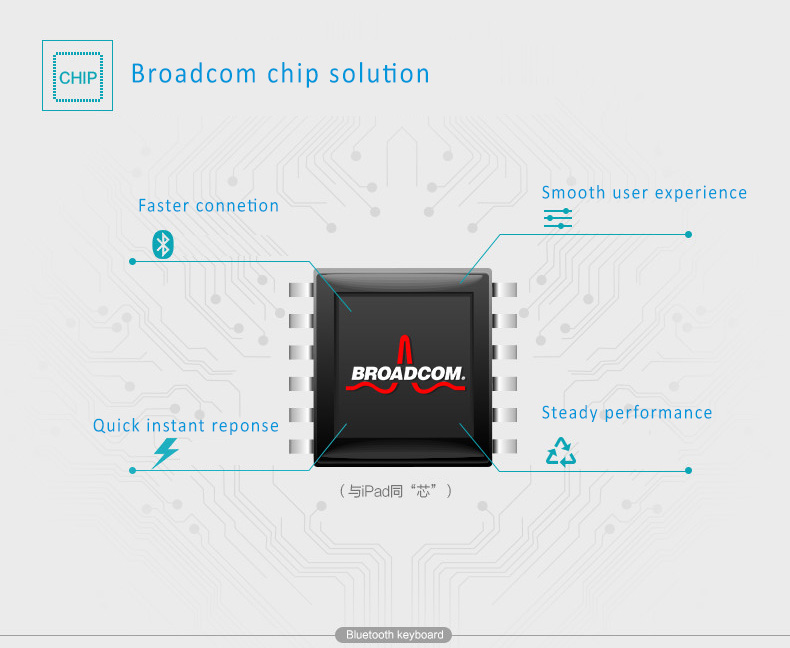 Foldable Pocket Broadcom Bluetooth Keyboard for iOS, Windows and Android,  Aviation aluminum cases