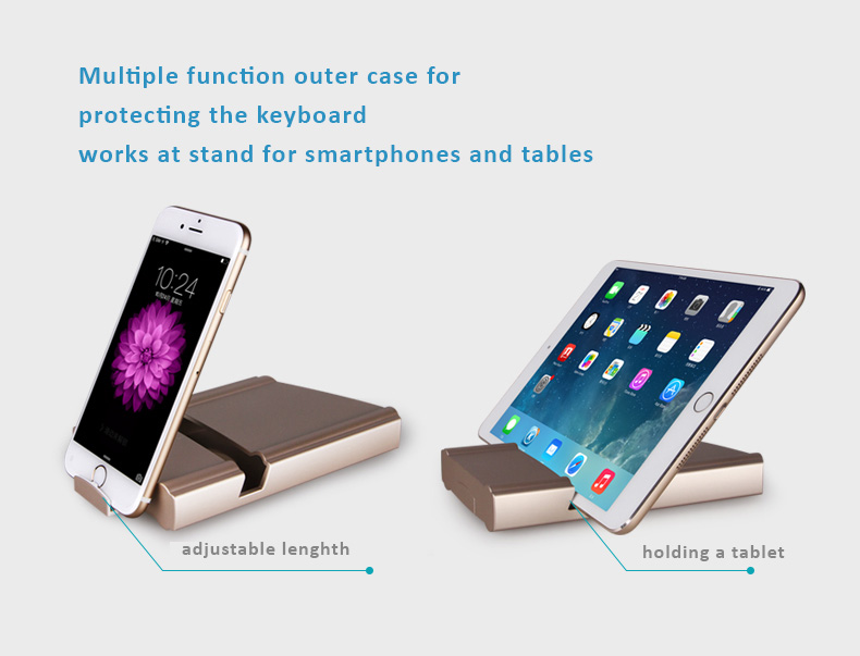 BOW Bluetooth 3.0 Keyboard for Apple iOS, Windows OS and Andriod 4.0 or above, Foldable design, Easy to carry around