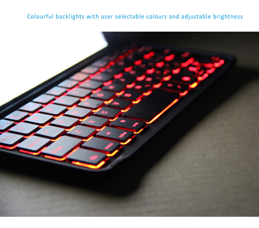 BOW Illuminating Backlit Bluetooth 3.0 keyboard for iPad Mini and Mini Retina with multi-colors backlight design