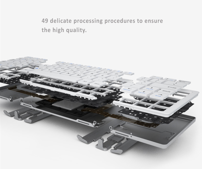 BOW Bluetooth 3.0 Keyboard  Compact foldable design, High Quality. Aviation Standard Aluminium Case and Scissor Keys, Fits to Apple iOS, Windows OS and Android 4.0 or above
