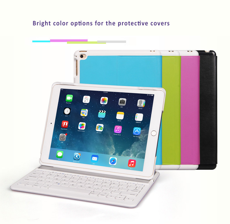 B.O.W. iPad Air2 Protective Cover + Bluetooth keyboard with light aluminum alloy case Exclusive design for iPad Air 2