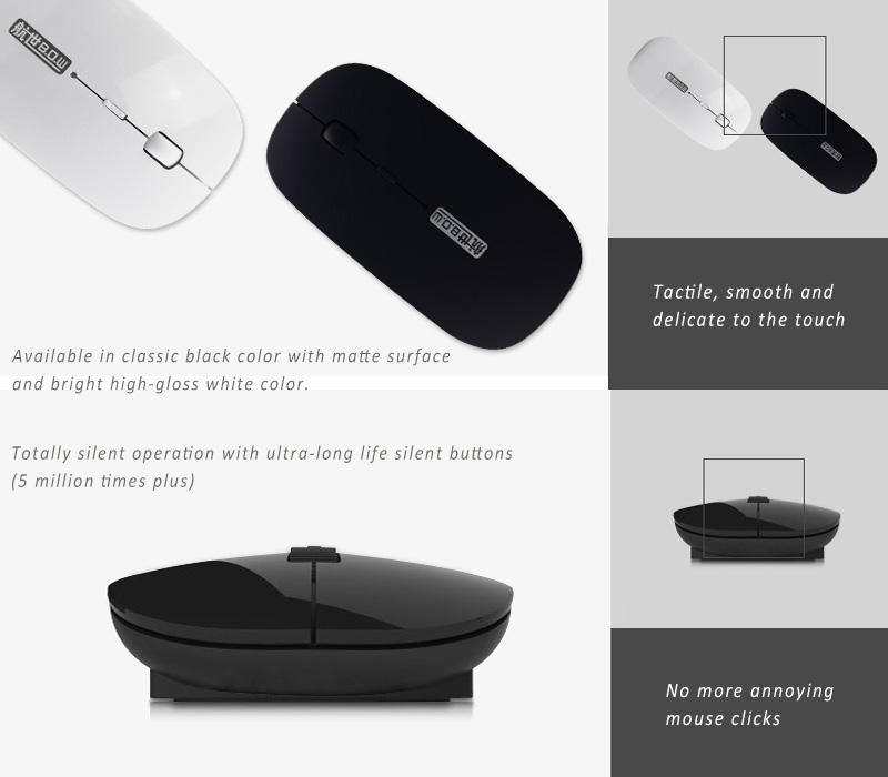 BOW Bluetooth 3.0 Optical Mouse, with Dual Standby Mode for Energy Saving. Works with Windows, Apple iOS and Android 4.0 or above