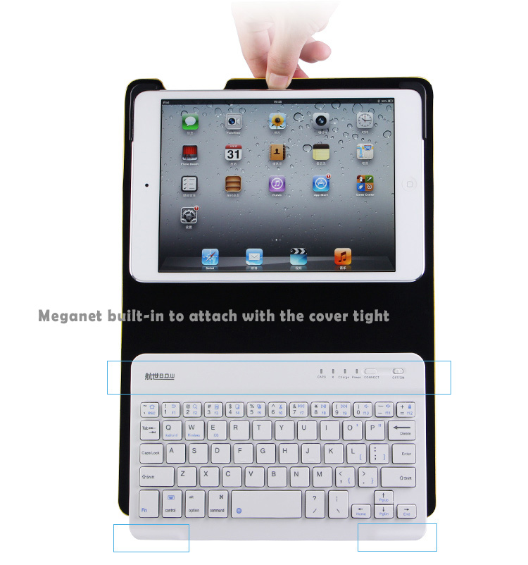 IPad Air Smart Cover Case Bundled with Detachable Bluetooth 3.0 Ultrathin Keyboard - Bright Color Selection