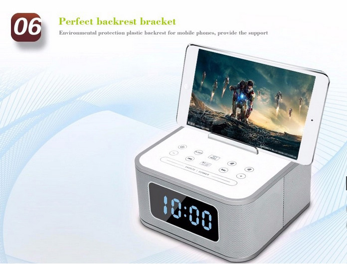 Multiple Function Bluetooth LCD Dual-Channel Speaker / Mp3 Player with Power Charging and Dock for iPhone, Android Phone, iPad and Android Tablets