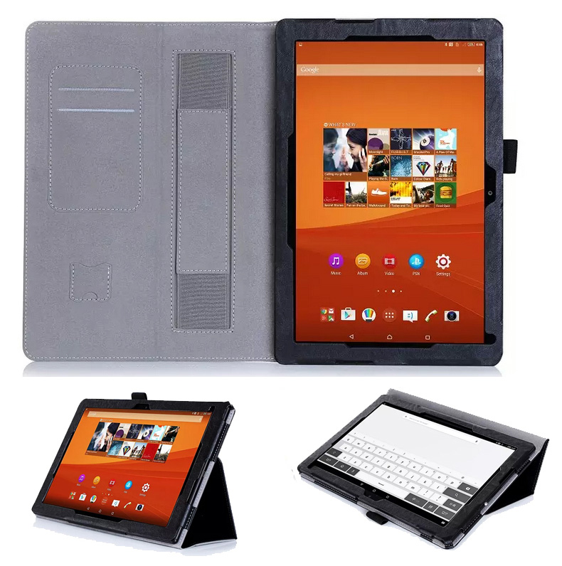 Ultra thin light PU leather protective cover for Sony Xperia Tablet Z4, Super micro fiber fully protects your table
