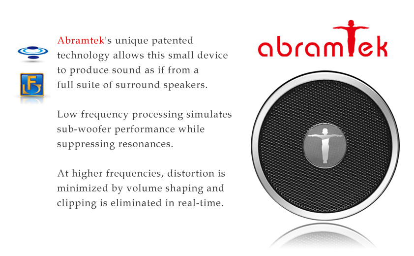 Abramtek King Kong III Bluetooth Enabled MP3 Player with Surround Sound and Subwoofer Effect Speaker, FM, NFC sensor - works as external speakers for smart phones, iPad, notebooks