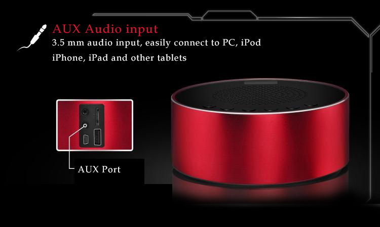 Abramtek XI - Terminator- MP3 Player with Surround Sound and Subwoofer Effect Speaker.  FM, Alarm, LED Display. Works as external speakers for smart phones, iPad, notebooks,