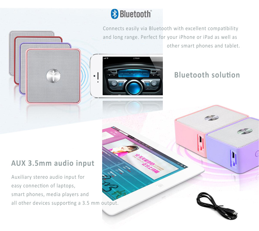 Abramtek Cappuccino Series Bluetooth  MP3 Player with Surround Sound and Subwoofer Effect Speaker - works as external speakers for smart phones, iPad, notebooks - With FM radio feature
