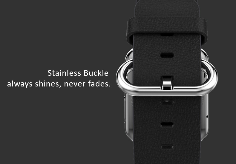 Hoco Quality Cowhide Leather Watch Band for Apple Watch 38mm, 42mm. Loop Strap with Stainless Buckle