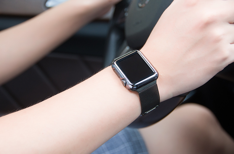 Milanese Steel Watch Band for Apple Watch 38mm and 42mm. Fine and Concise Design.