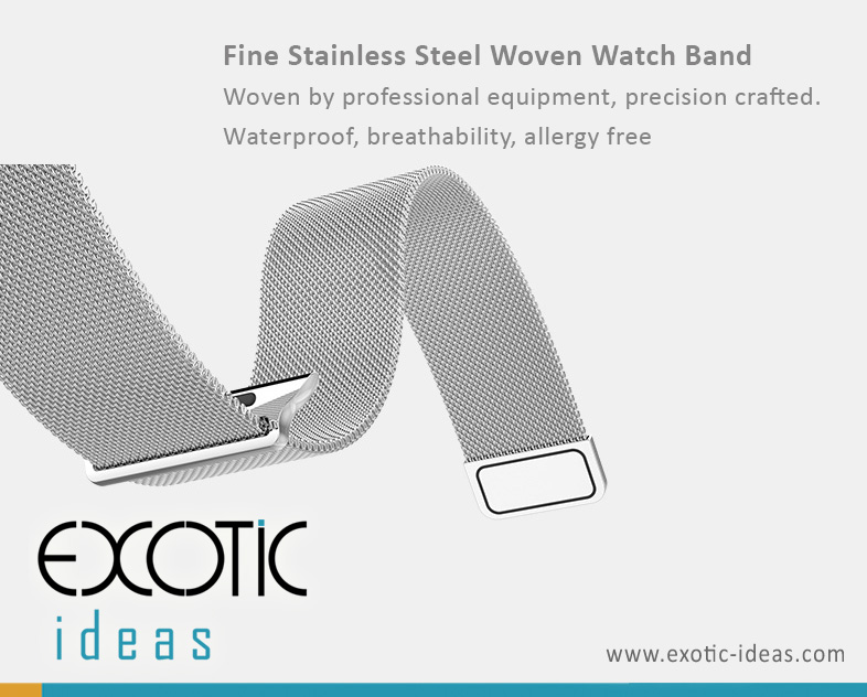 HOCO Milanese Steel Watch Band for Apple Watch 38mm and 42mm. Fine and Concise Design.