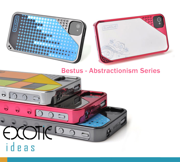 iPhone 4 4S Case Skin - Bestus Abstractionism Series with plating surface,  German non-toxic Eco PC