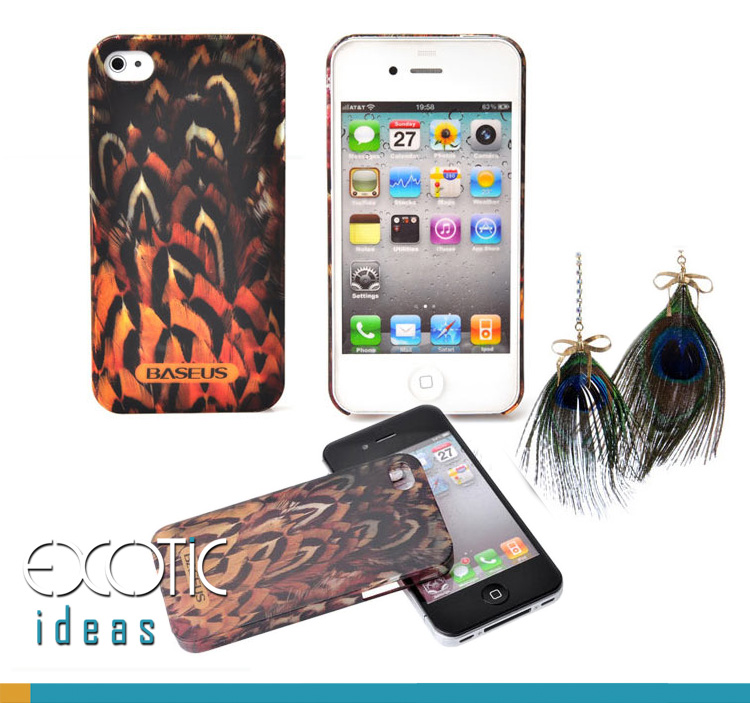 iPhone 4 4S Phone Case Skin - Bestus Knight Series - Eco Friendly Byer None Toxic PC - Feather Grain Textured