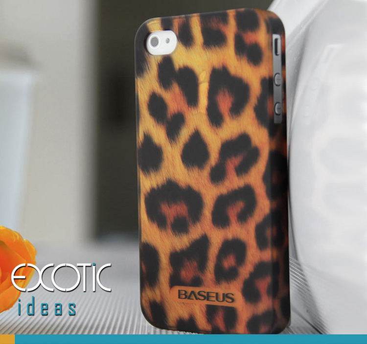 iPhone 4 4S Phone Case Skin - Bestus Knight Series - Eco Friendly Byer None Toxic PC- Leopard Grain Textured