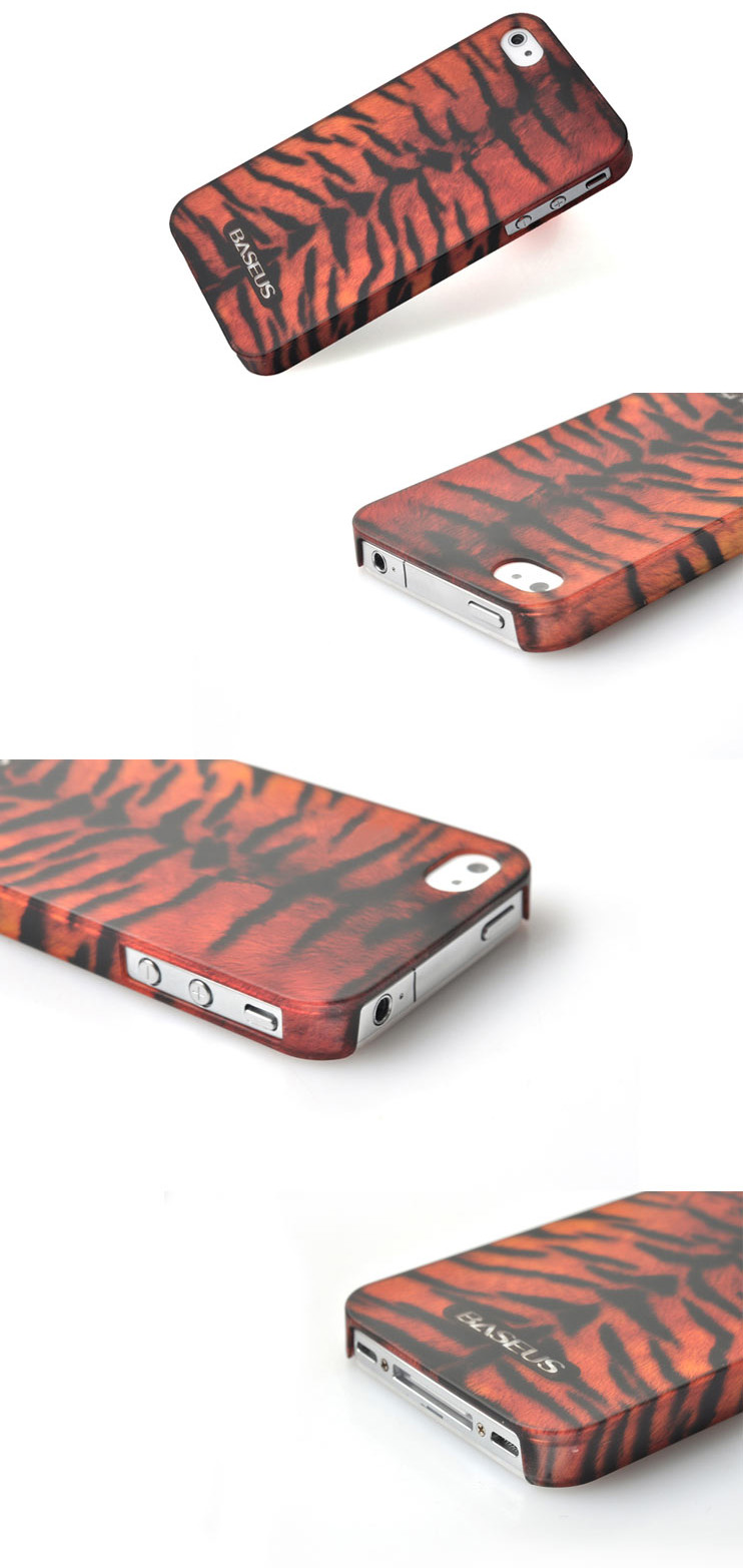 iPhone 4 4S Phone Case Skin - Bestus Knight Series - Eco Friendly Byer None Toxic PC- Tiger Texture