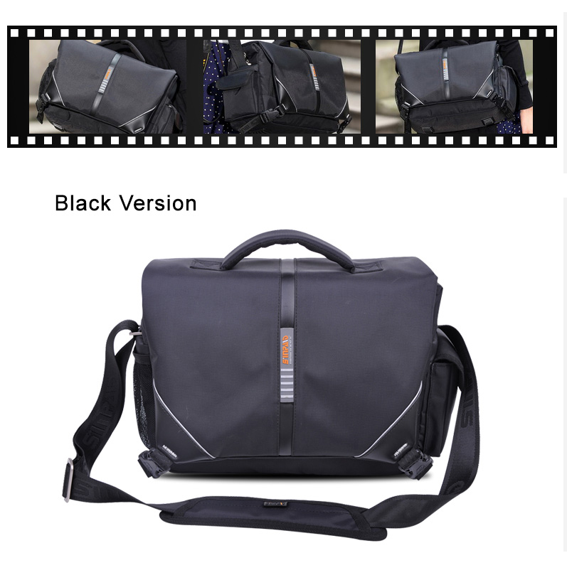 Quality Waterproof Bags for SLR EOS cameras - large capacity fits to Canon Nikon professional cameras, stripes for shoulder or diagonal carrying.