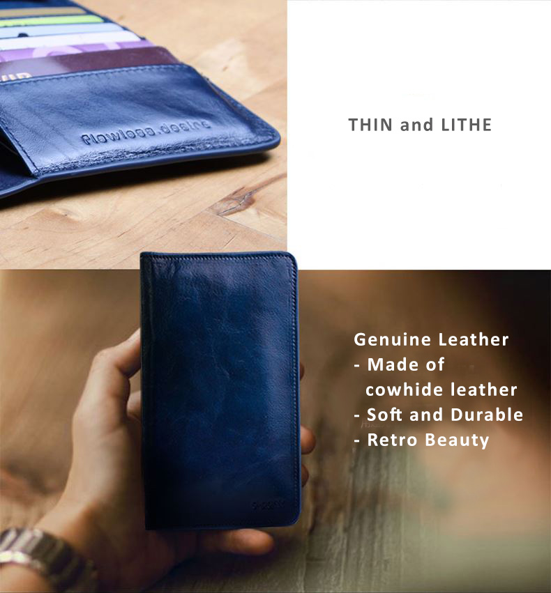 D-Park Genuine Cowhide Leather Wallet Protective Cases or iPhone 6 and iPhone 6 Plus - Retro Style - Return to original beauty.