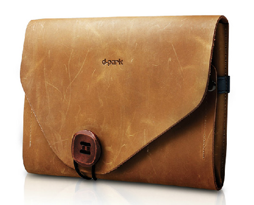 d-park Genuine Leather Envelope Style Sleeve Bags for iPad MIni, Mini Retina, Mini 3. Retro Beauty, Multiple Function Bags