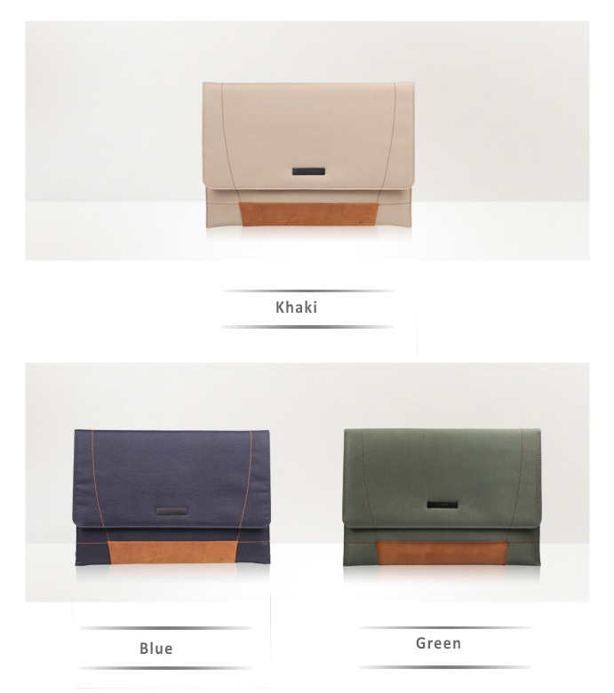 d-park Envelope Sleeve bags for Microsoft Surface Pro 3, Made of Genuine Pony Leather and Nylon Fabrics
