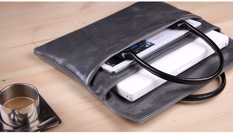 "d-Park - Genuine Leather Handbags tyle Sleeve Bags for Laptops 14"", 13"" or smaller, fits to MacBook Ari and Pro 13"", The new MacBook 12"