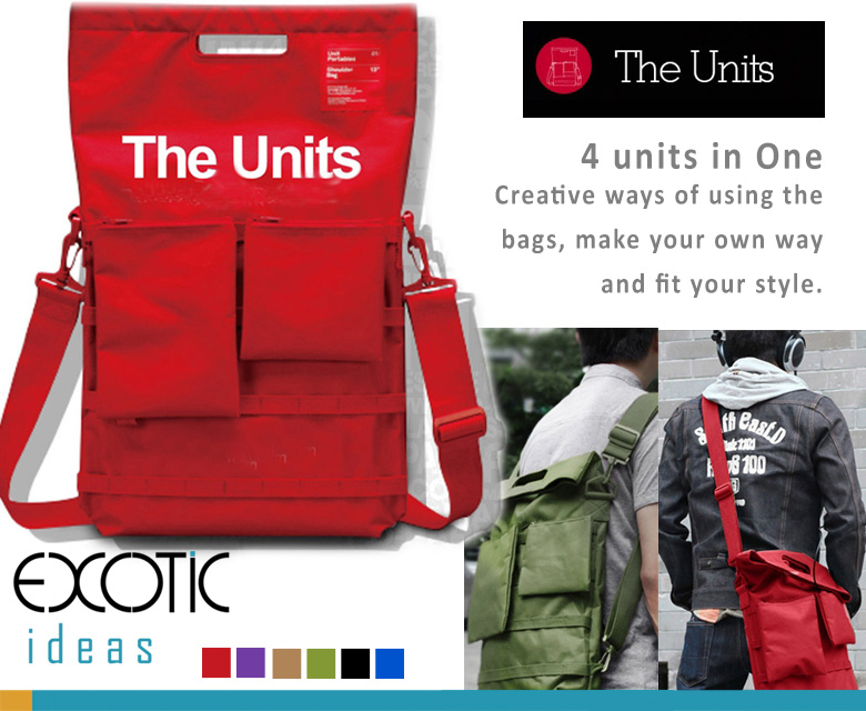 "d-Park - The Units - Laptop Backpack/Handbags -4 Units in One. Fits to 17"" or smaller laptops/tablets. Big Capacity, One for all you need."