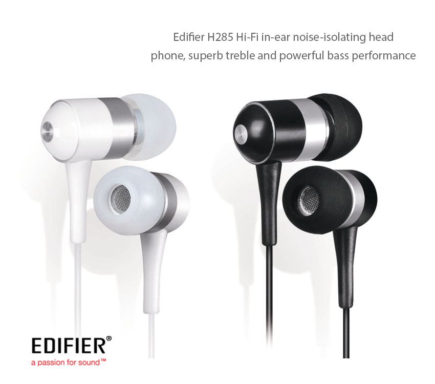 Edifier H185P,  Hi-Fi Enhanced Bass Headphone, Ultra-thin diaphragms for crystal clear sound