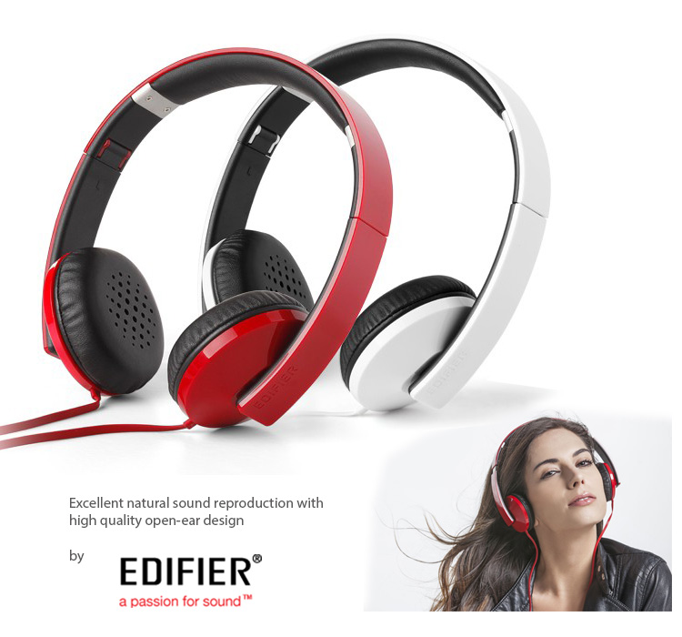 Edifier H750P,  Excellent natural sound reproduction, Flip and Fold-headphone, Soft foam and leather ear caps, Trendy and Cool Design