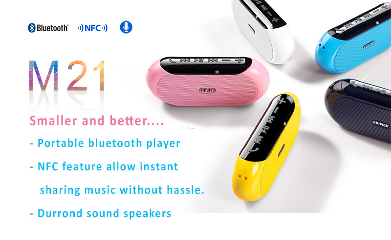 Edifier M21 Bluetooth NFC MP3 Player with Surround Sound Speaker. Compact and Comprehensive