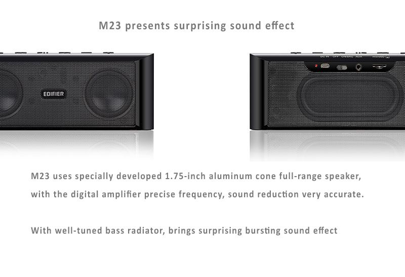 "Edifier M23 Bluetooth NFC MP3 Player with 1.75"" Speaker, suprrising sound effect. Sleek and fine case design."