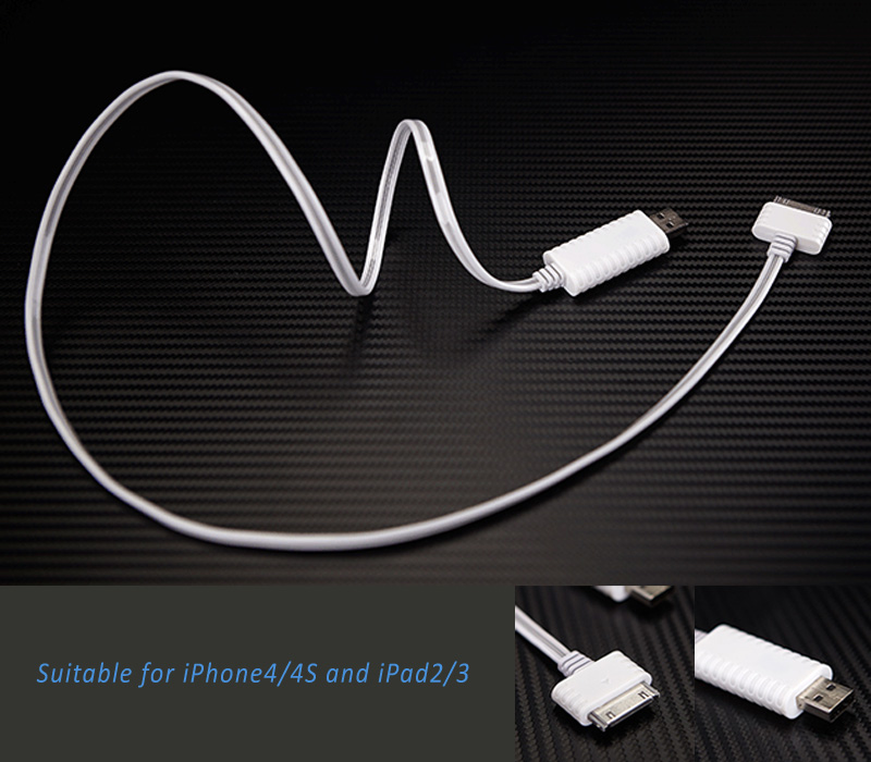 Super cool illuminating data/power charging USB cable  for iPhones and iPads