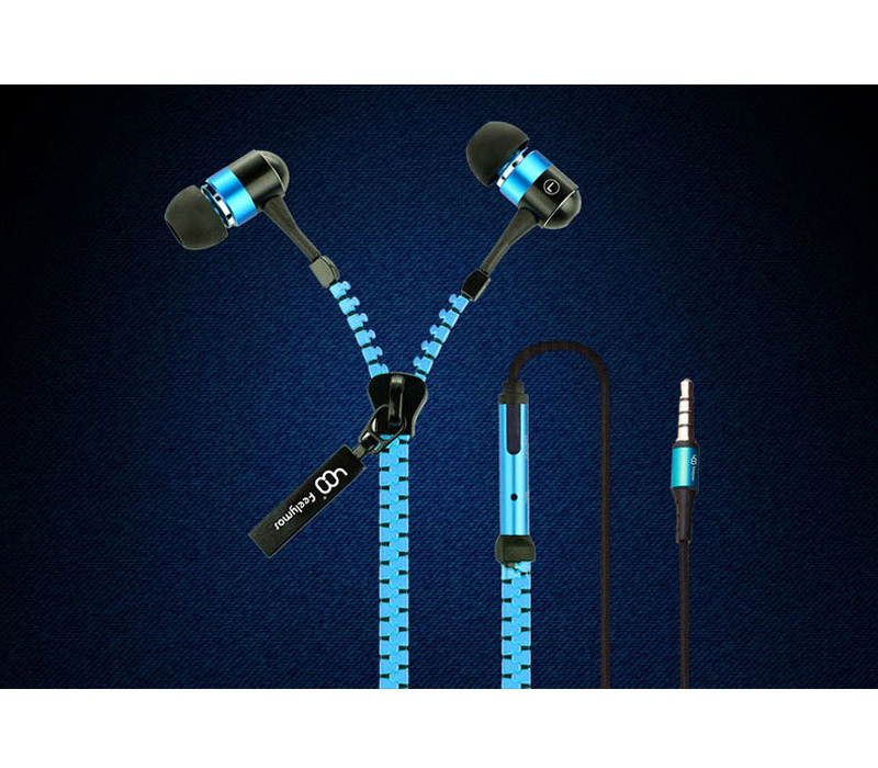 Feelymos, Zip style headphones with call answer button for smart phones with 3.5mm four-segment plug, fits to iPhone, Samsung, HTC, Nokia, Phillips..etc