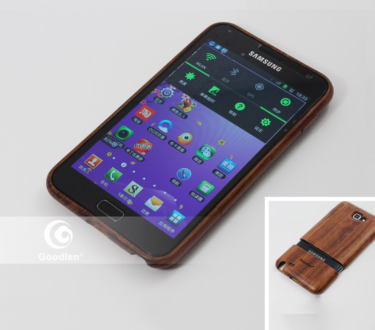 Goodlen Wooden Case Skin for Samsung Galaxy Note i9220  - Top Selected Handmade Wooden Cases,  Rosewood, Walnut