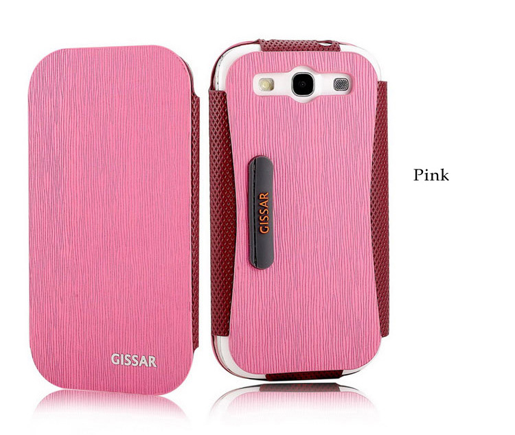 Gissar Samsung Galaxy S3 i9300 Phone Case Skin - Color Clash Series -Korean PU Leather Flip Case  with Stand Feature