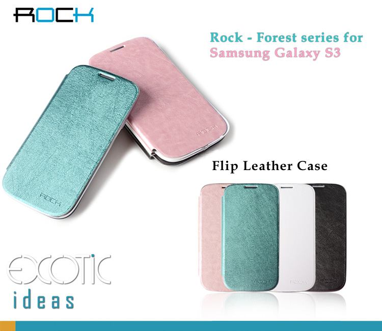 ROCK Samsung Galaxy S3 i9300 Phone Case Skin - Forest Series - Imitated Lamb Leather Side Flip Leather Case