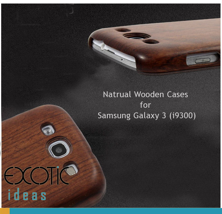 Goodlen Wooden Case Skin for Samsung Galaxy 3 i9300  - Handmade Wooden Cases, Walnut, Rosewood, Cherry, Maple