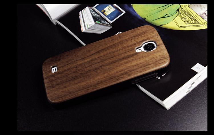 Goodlen Wooden Case Skin for Samsung Galaxy S4 i9500  - Handmade Wooden Cases, Walnut, Rosewood, Cherry