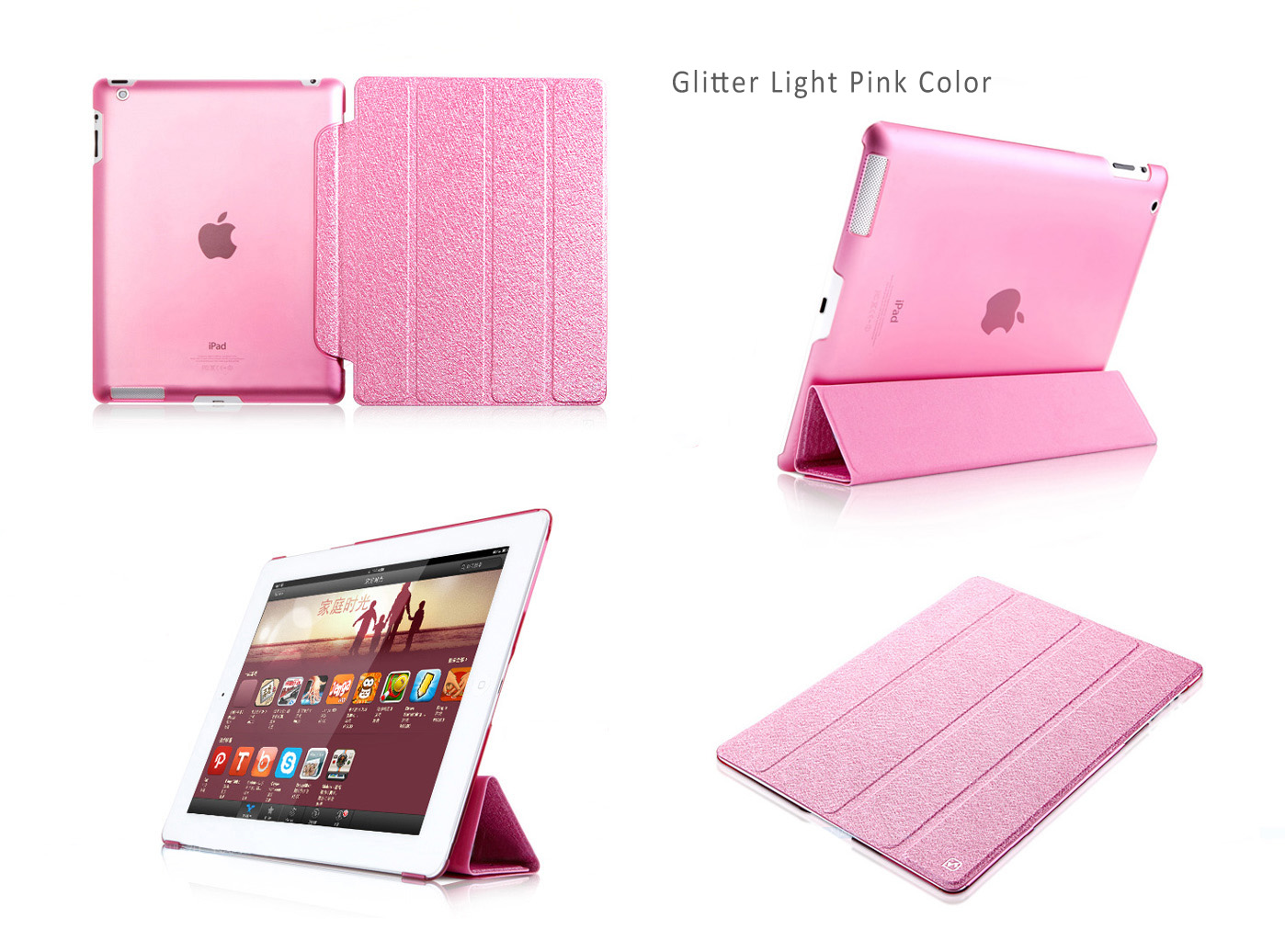 HOCO Glitter Covers / Cases / Sleeve Bags  for iPad Air - Auto Sleep / Awake Feature, Imported PU and PC ECO Friendly Material