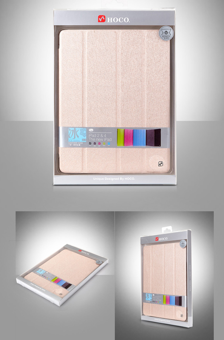 HOCO Glitter Covers / Cases / Sleeve Bags  for iPad Air - Auto Sleep / Awake Feature,Imported PU and PC ECO Friendly Material