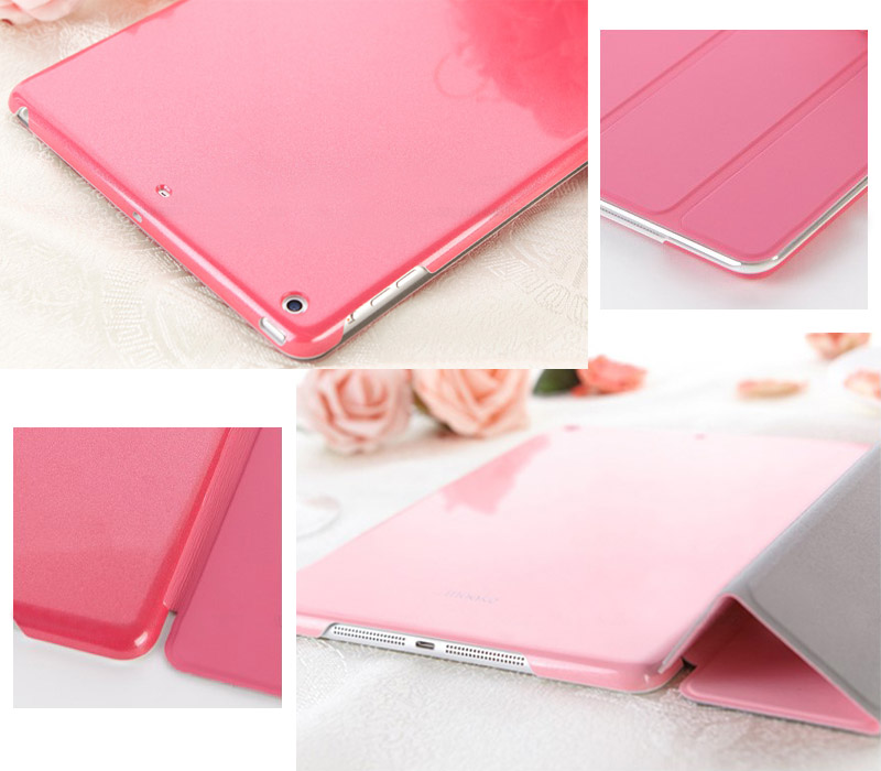mooke Protective Covers for iPad Air by Foxconn - Glittering Series - with Metal Reinforced Front Cover - Ultra Thin -  Auto Sleep / Wake Feature