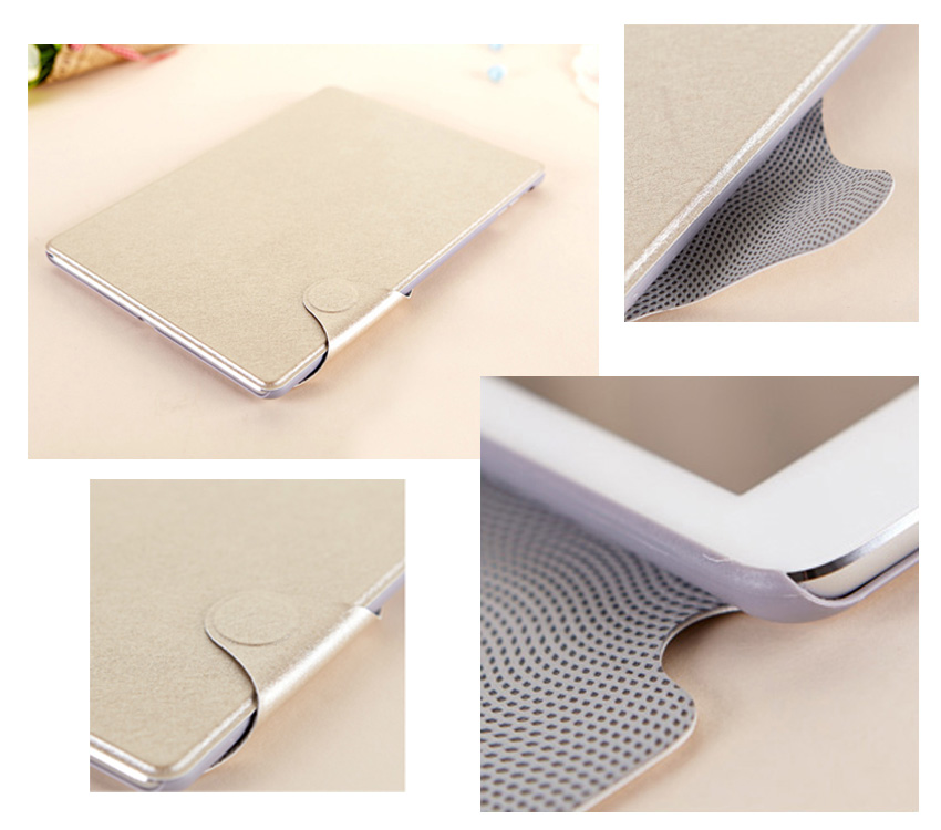 mooke Silky Surface Cases for iPad Air with Buncle Design - Auto Sleep/Awake Feature