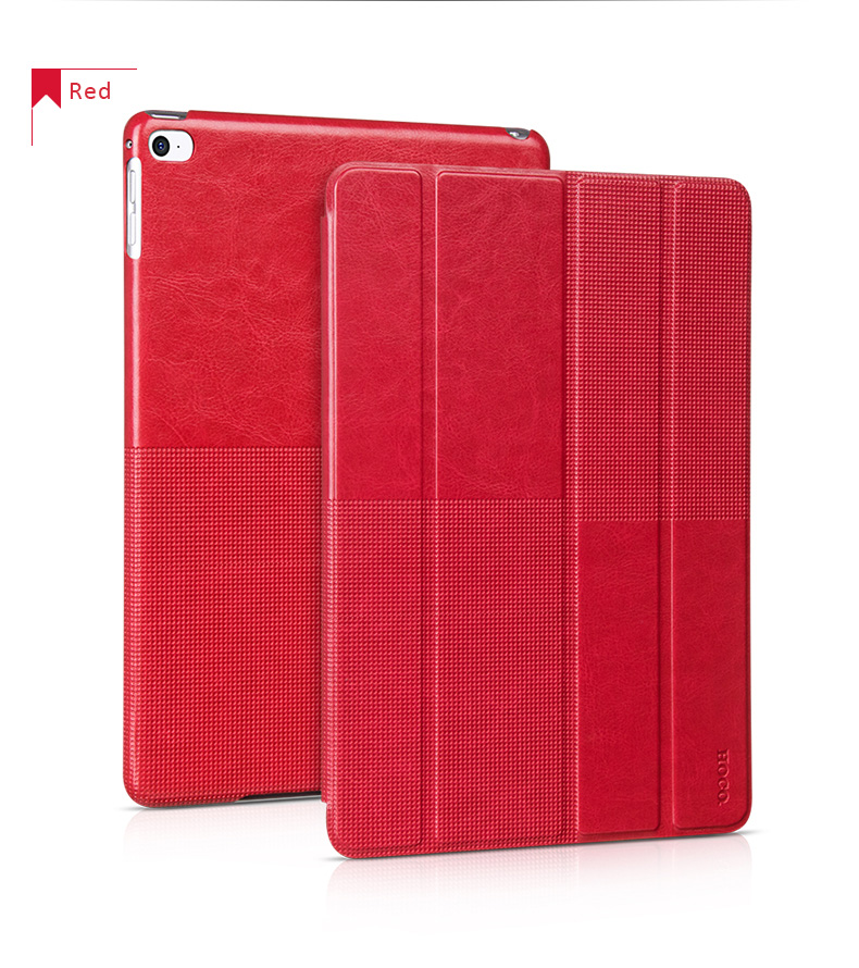 HOCO Protective Leather Smart Covers Cases for iPad Air 2 - Retro Series. Multiple Angle Views