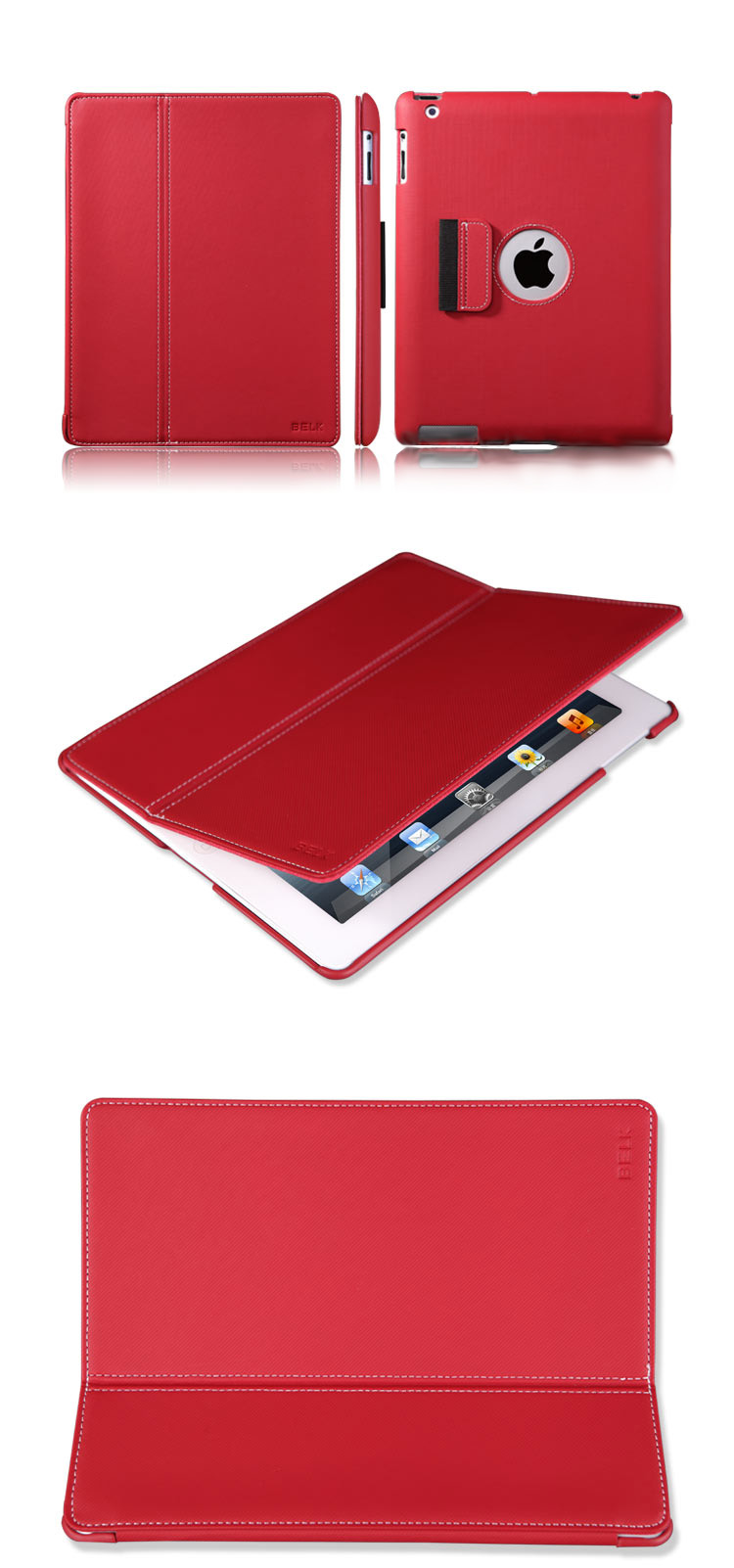 Belk iPad 2 / The new iPad (iPad 3)  Sleeve Bags Cases - Textile Pattern, Trendy and Fashionable Design, Fne Fluff  Inner Layer,  Auto sleep/Awake