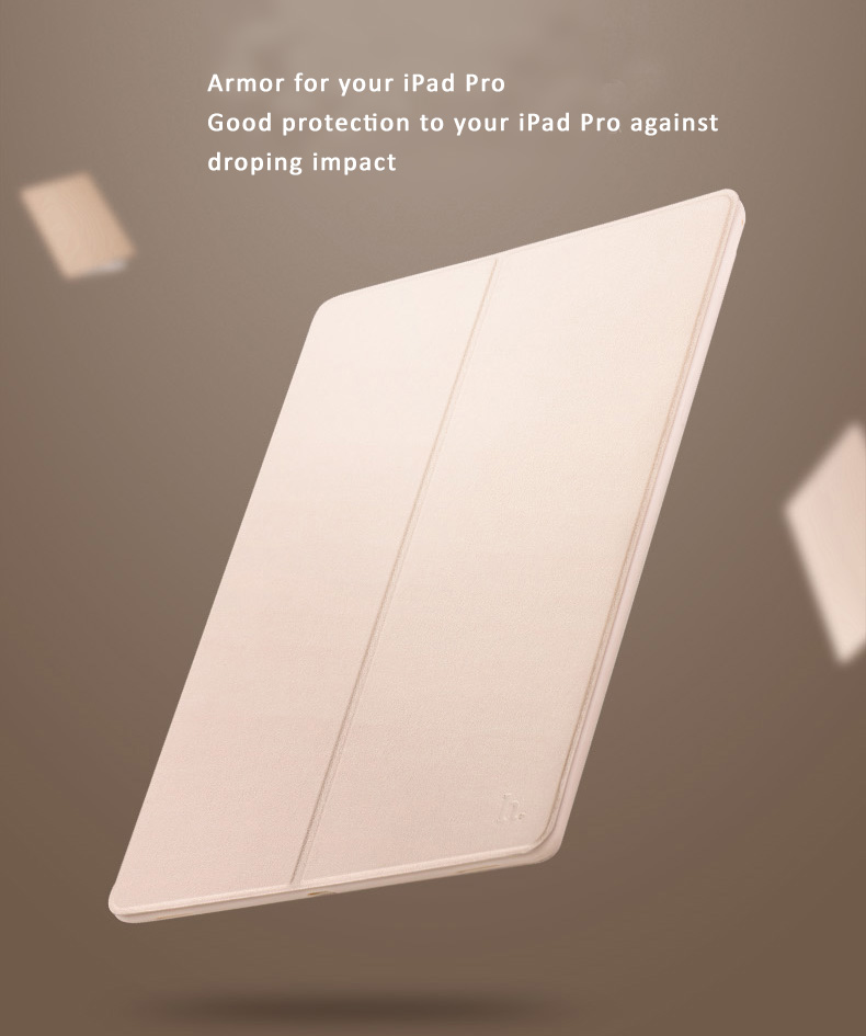 "HOCO Dual Layer PU Leather Smart Cover + Silicone Backshell for iPad Pro 12.9"", Full protection to the iPad Pro."