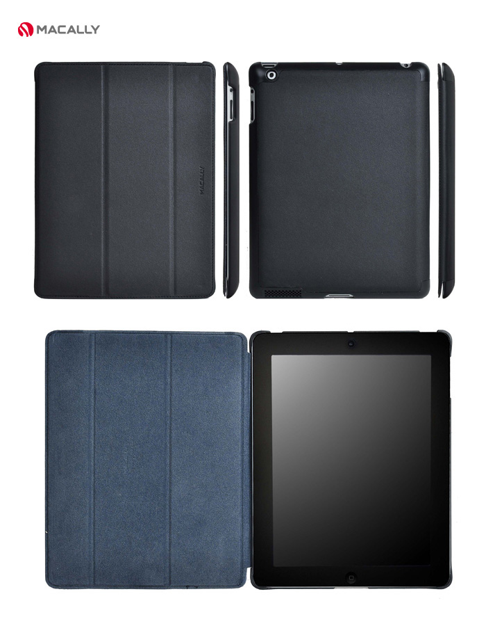 MaCally Smart Covers for iPad 2, 3 & 4.  Quality Faux Leather Cover with PU Back-shell, Soft Fibre Lining,  Auto-sleep feature