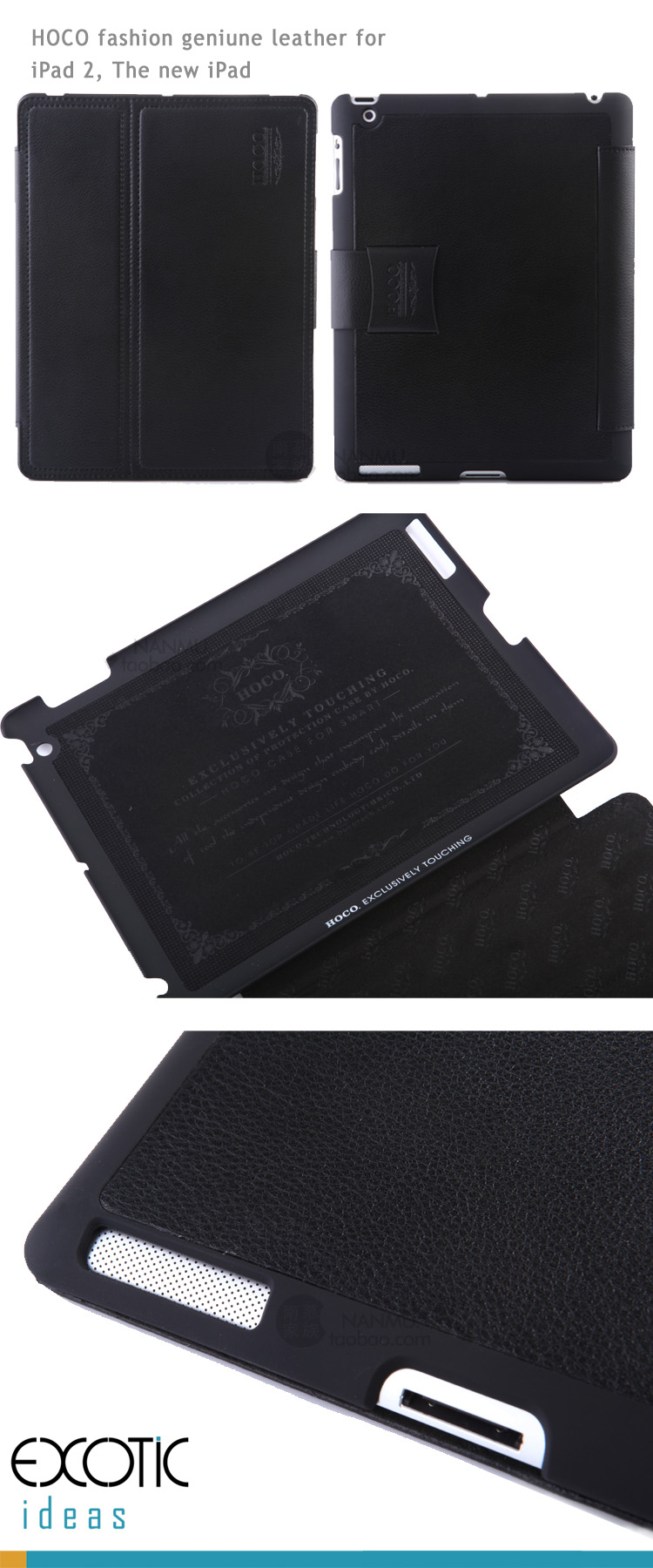 HOCO Genuine Leather for iPad 2, The new iPad Sleeve Bag Case, Geniune Leather for Inner and Otter Case