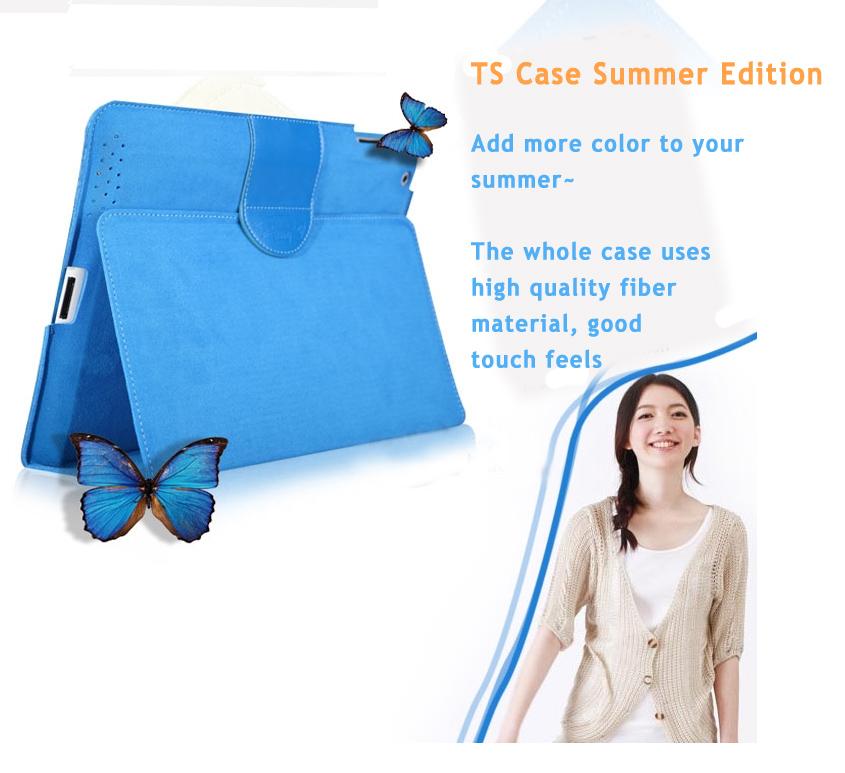 Superfine Fiber Case Cover Skin for iPad 2, The new iPad (iPad 3), Pad 4,  Absolute Pure Color, ECO Friendly