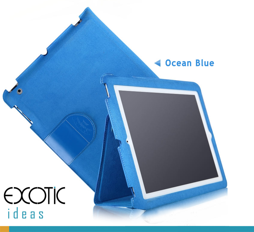 Superfine Fiber Case Cover Skin for iPad 2, The new iPad (iPad 3), Pad 4,  Absolute Pure Color, ECO Friendly