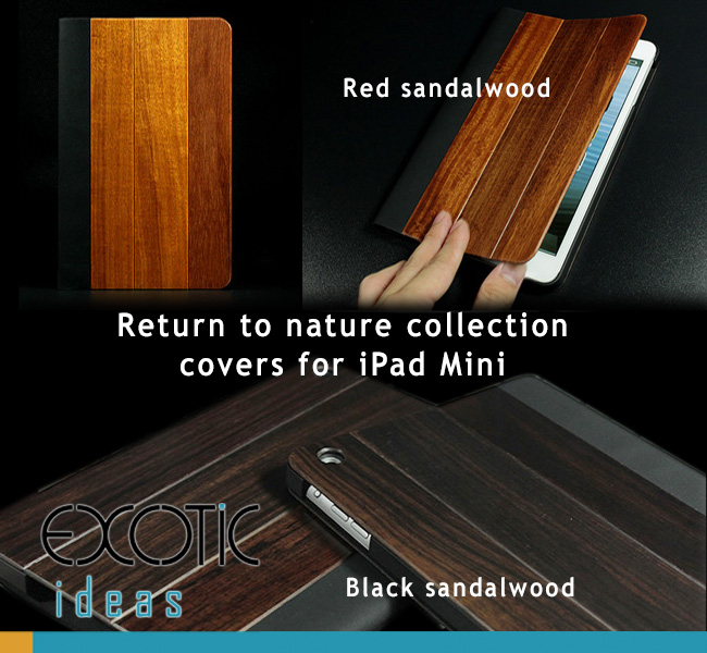 Goodlen Nature Collection - Black Sandalwood and Red Sandalwood covers for iPad Mini. Mini Retina, Mini 3